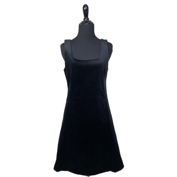 Theory Dresses & Skirts - Theory Black Velvet Square Neck Sheath Dress